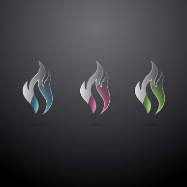 Vector fire icons,  vector illustration stock vector