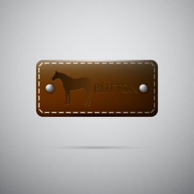 Vector leather button,  vector illustration stock vector