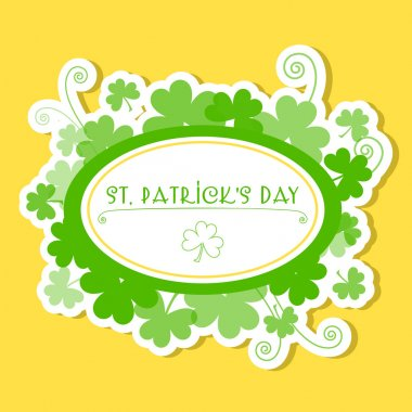 Greeting Card St Patrick Day vector illustration stock vector