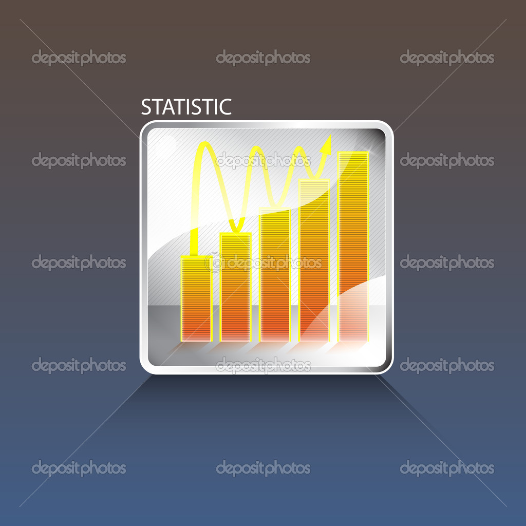 Vector business chart vector illustration stock vector