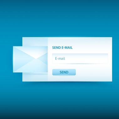 Vector email sending form stock vector