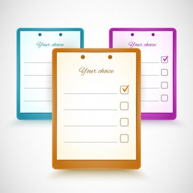 Application form - your choice stock vector