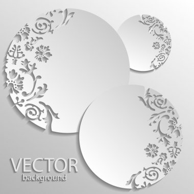 Vector gray floral background stock vector