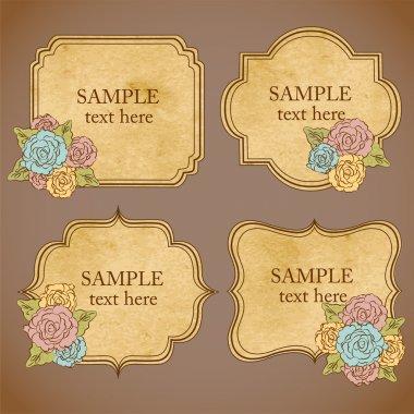 Vector vintage floral frames stock vector