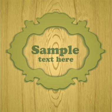 Vector wooden vintage frame stock vector