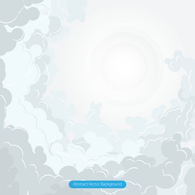 Abstract cloud vector illustration stock vector