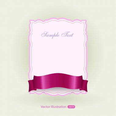 Banner with ribbon. Vector stock vector