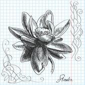 Vektor handgezeichnete Illustration einer Blume