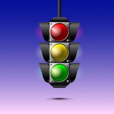 Traffic lights,  vector illustration stock vector