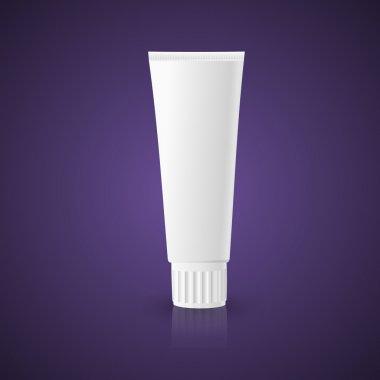 White dentifrice, toothpaste, cream tube. Vector stock vector