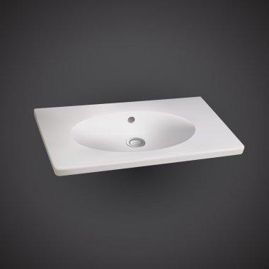 Modern washbasin or sink, vector stock vector
