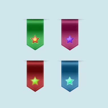Bookmarks icons . Vector illustration stock vector
