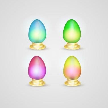 Set of vector Easter eggs stock vector