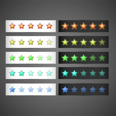 Set of stars rating template, vector stock vector
