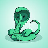 Green cobra,  vector illustration
