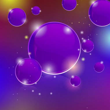 Glowing abstract background with bubbles stock vector