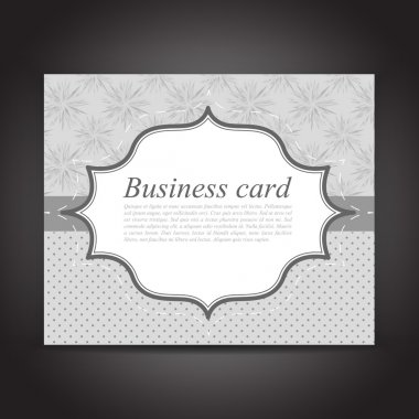 Vector business Card. Can be used as invitation stock vector