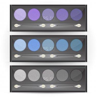 Set of eye shadows, vector stock vector