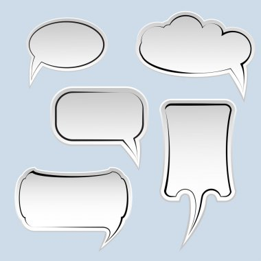Speech And Thought Bubbles With Space For Text stock vector