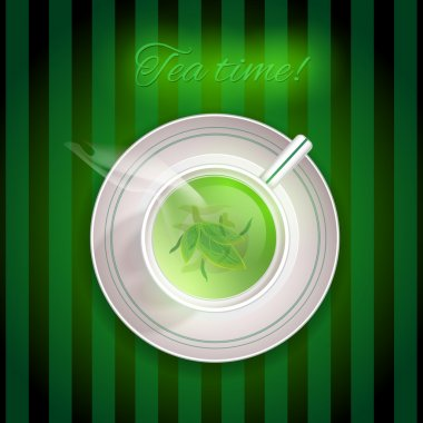 Cup of green tea stock vector