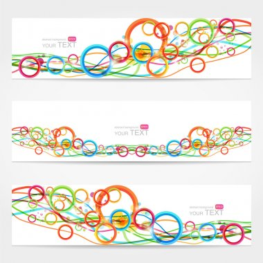 Abstract vector cards,  vector illustration stock vector