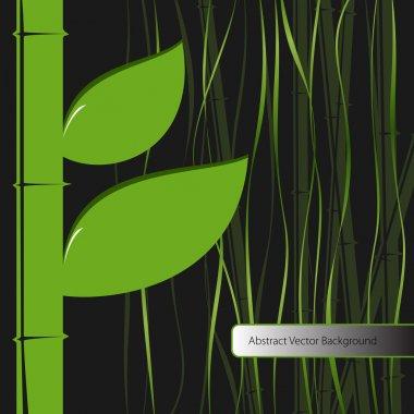 Green leaves bamboo. Vector illustration. stock vector