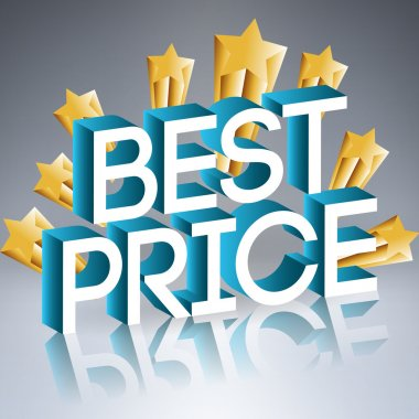 Best prise sign with golden stars, vector stock vector