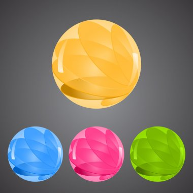 Set of colorful buttons stock vector