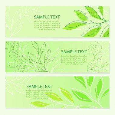 Spring green leaf backgrounds. vector illustration stock vector