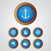 vektorový sada ikon moře