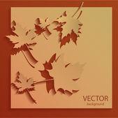 Vektor podzimní pozadí vektorové ilustrace