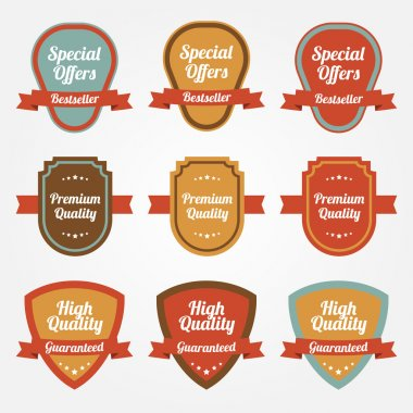 Collection of sale shields, labels. stock vector