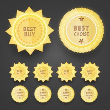 Premium Quality badges vector illustration stock vector