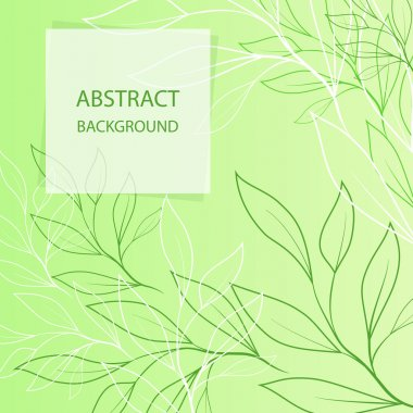 Floral green pattern, vector stock vector