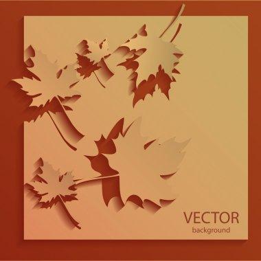 Vector autumn background vector illustration stock vector