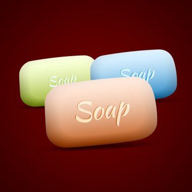 Vector soap set,  vector illustration stock vector
