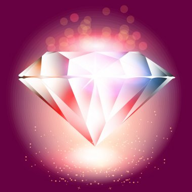 Vector crystal,  vector illustration stock vector