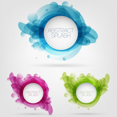 Vector abstract splash design stock vector