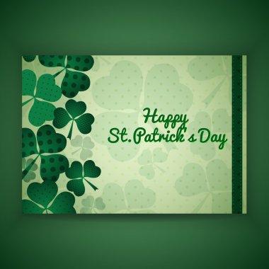 St. Patrick Greeting Card, vector stock vector