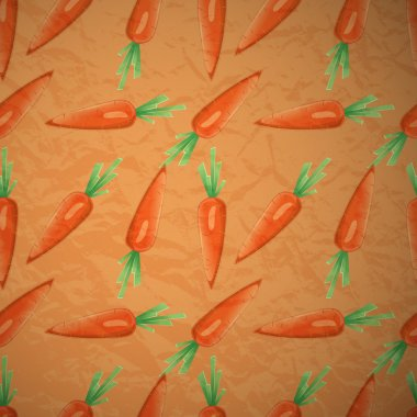 Carrots seamless background pattern stock vector