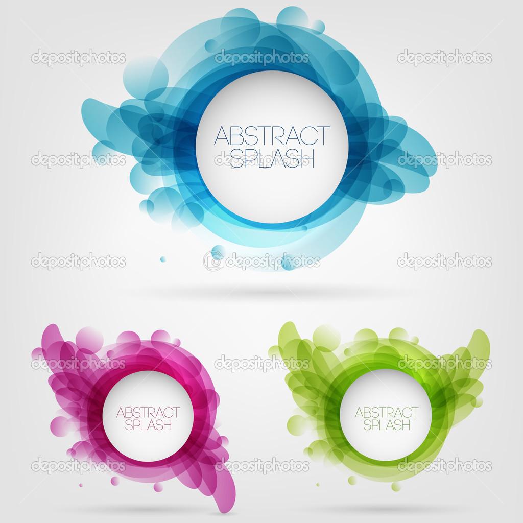 Vector abstract splash design stock vector