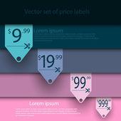 sada vektorové prodej štítků