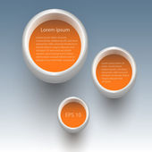 Vector orange buttons, vector  illustration