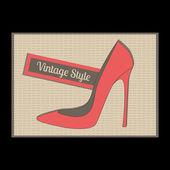 Fashion womens high heel shoes, vector