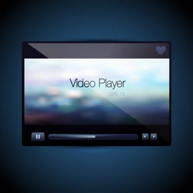 Vector video movie media player skin stock vector