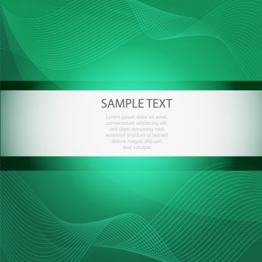 Abstract vector green background stock vector