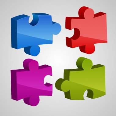 Colored Puzzles. Vector Illustration stock vector