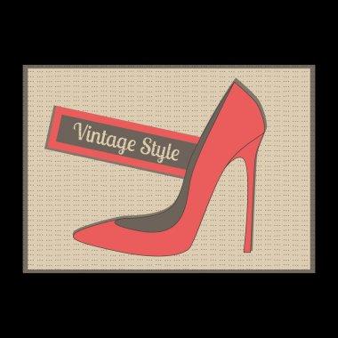 Fashion women's high heel shoes, vector stock vector