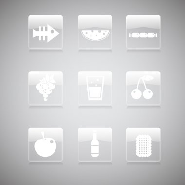 Food icons, vector  illustration stock vector