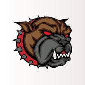 vektoros illusztráció egy bulldog feje harapós készlet belső kör.